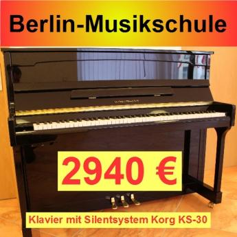 Berlin-Musikschule Silent Klavier mit Korg KS-30